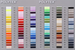 Die Polytex-Farbkarte enthält alle Farben für Bauschgarn