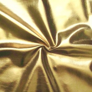 Polyester-Elastan Stoff, gold beschichtet
