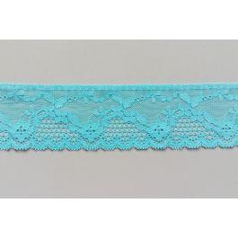 Kurzwaren 1m Blau Turquise Elastische Stretch-Spitze Breite 16cm