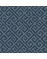 Bielastischer Jersey Stoff in blaugrau mit Mäander-Muster - 210 g/m2 schwere Meterware - Stoffzusammensetzung: 95% Baumwolle 5% Elastan