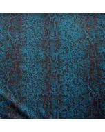 Schöner Badelycra - Lycra Stoff in petrolgrün mit schwarzer Musterung - das Muster erinnert an Schlangenhaut. Der Stoff ist perfekt für Badeanzug, Bikini und Tankini.