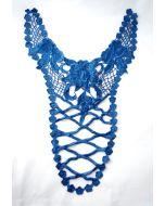 41x27cm grosser guipure Spitzenbesatz für T-Shirts, Blusen und Kleider in königsblau.