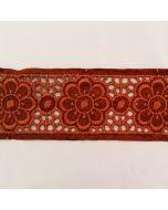 Kunstleder-Band mit Lochstickerei, 5.4cm breit
