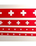 Satinband mit Schweizer Kreuz-Motiv