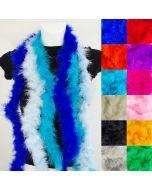 Weicher Federboa aus 100% gefärbten Naturfedern in 16 Farben für Fasnacht, Cosplay, Dragshows.