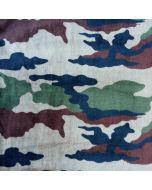 Plüsch Stoff 'Camouflage' mit Tarnanzugmotiv