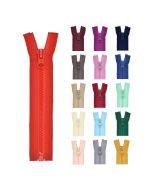 Teilbarer Reissverschluss in verschiedenen Längen und Farben für Jacken, Taschen und Deko.