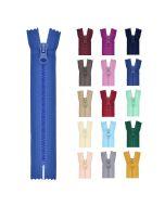 Nicht teilbarer Reissverschluss in vielen, lässigen Farben für Jacken, Taschen oder Deko.