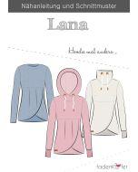 Schnittmuster für ein Hoodie 'Lana' von Fadenkäfer