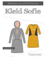 Schnittmuster 'Sofie' für ein süsses Kleid 'Sofie' mit oder ohne Kaputze von Fadenkäfer. Der Schnitt ist in zwei Varianten erhältlich: für Damen und für Kinder.