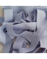 Elastisches Einfassband - Falzgummiband in hellblau - 26mm breit