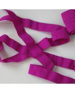 Elastisches Einfassband (Falzgummi) in magenta - 16mm breit