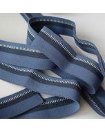 Unterhosen-Gummiband in jeansblau mit dunkelblauem Streifen - 3cm breit