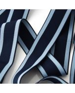 Unterhosengummi in hellblau-dunkelblau gestreift, 3.5cm breit in günstiger Budgetpackung à 5m. Top Qualität, ideal für den Bund von Männer- und Jungs-Unterhosen.