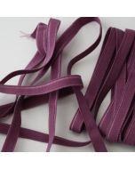 Weiches, dünnes Gummiband in aubergine für den Bund von Slips und Unterwäsche in 5m-Budgetpackung - 8mm breit