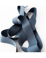 Weiches aber starkes Unterhosengummiband in blaugrau - 3cm breit - in 5m-Budgetpackung.