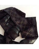 Antirutsch-Gummi, silikonbeschichtet, schwarz-gold, 7 cm breit