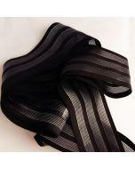 Antirutsch-Gummi, silikonbeschichtet, schwarz, 6 cm breit