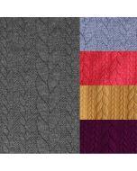 Jaquard Punta di Roma Stoff mit lässigem Zopfmuster - der Stoff ist perfekt für Damenbekleidung für den Winter: für Kleider mit ausgestelltem Rock, Tunikas; usw.