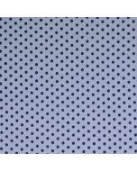 Getupfter Musselin - Double Gauze Stoff in grau mit schwaren, 1-4mm grossen Pünktchen für Damen- und Kinderkleider.