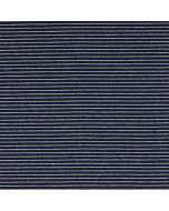 Dunkelblau-silber gestreifter Jersey Stoff