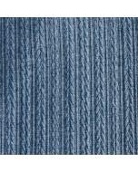 Gemusterter Feinstrick Stoff in blaumelange
