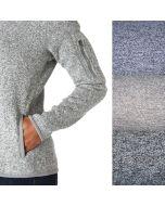 Weicher, mittelschwerer bis schwerer Sweat Stoff in melange Farben für trendige Pullis, Übergangsjacken, warme Trainingshosen.