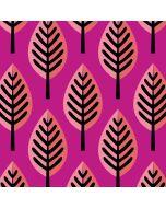 Softshell Stoff Park Lane in the Wood von Hamburger Liebe mit Blattmotiv in pink