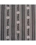 Trachtenhemden-Stoff mit Edelweissmotiv in grau