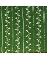 Dirndl/Trachten Stoff, gestreift mit Blümchen, grün