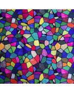Bunter Lycra - Badelycra Stoff  mit Mosaikmuster
