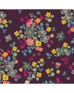 Baumwolljersey mit Blumenmotiv