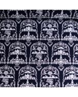 Scherenschnitt Stoff mit Edelweiss-Muster in dunkelblau