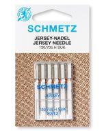 Jersey Nadeln mit mittlerer Kugelspitze für feine bis mittelschwere  Jersey, Sweat und French Terry. Bezeichnung: 130/705H SUK - Stärke 80