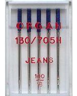 Jeans Nadeln in der Stärke 100 für mittelschere bis schwere Webware wie Canvas, Jeans, Köper.