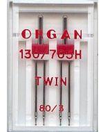Zwillingsnadeln, Stärke: 80, Breite: 3mm, 2 Stk.