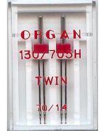 Zwillingsnadeln, Stärke: 70, Breite: 1.4mm, 2 Stk.