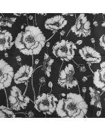 Jersey Stoff mit Mohnblumenmuster in grau-weiss für Damenbekleidung und Unterwäsche.