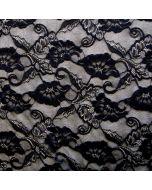 Leichte, bielastische Spitze für hautenge Bekleidung und Unterwäsche in schwarz.