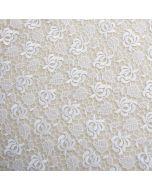Weiche, hochwertige Spitze - Tüllstickerei auf hauchdünnem, nicht elastischem Mesh - für Brautkleider und Festliche Mode.