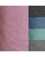 Elastischer (stretch) melange Softshell Stoff in 5 melierten Farben: blau - mint - altrosa - grau und dunkelgrau