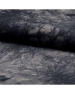 Viskose Stoff für den Sommer in Batik-Optik in dunkelgrau für Sommerkleider und Sommerhosen.