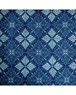 Softshell Stoff in blau mit Jugendstil-Muster in mint für Softshell-Jacken, Matschhosen, Taschen oder Outdoor-Decken.