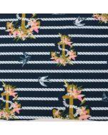 Wasserabweisender und Winddichter Softshell Stoff mit Seestern- und Fischmotiven für Jacken, Hosen oder Outdoor-Decken. Auch für Tauchtierli geeignet.