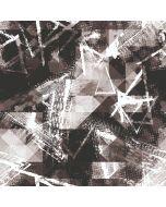 Wasserabweisender Softshell Stoff in schwarz-weiss mit abstrakter Musterung. Der Stoff ist winddicht, perfekt für Softshell-Jacken, Matschhosen, Decken oder Taschen.
