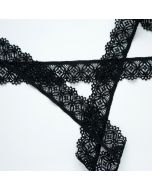 Budgetpackung elastische Spitze in schwarz - 3cm breit, 3m