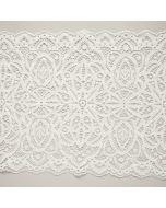 Elastisches Spitzenband in ecru - 22cm breit