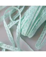 Elastische Spitze - Spitzengummi in mint - 8mm breit für Unterwäsche, Bekleidung und Deko.