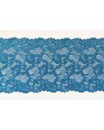 Elastische Spitze - Spitzenband in petrolblau - 16cm breit