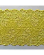 Elastisches Spitzenband, gelb - RESTSTÜCK à 90CM